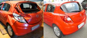 Восстановление автомобиля после ДТП Opel Corsa
