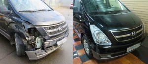 Фото до и после кузовного ремонта H1
