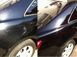 полировка кузова автомобиля до и после